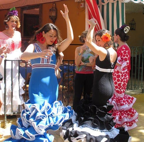 sevilla girls dancing feria de abril
