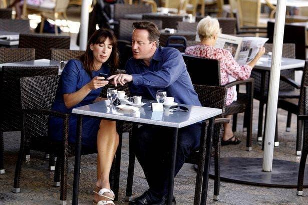 David Cameron enjoys a summer holiday in Spain