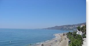 El Playazo beach in nerja loses blue flag