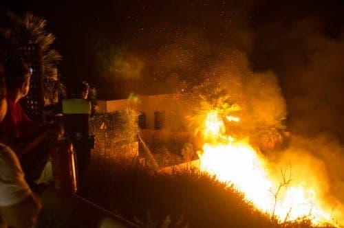 Firework display burns through Benalmadena