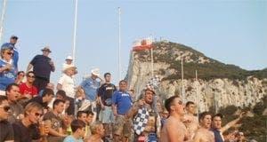 Pompey fans in Gib