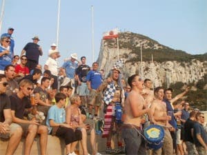 Portsmouth FC fans raise cash for charity in Gibraltar