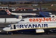 Ryanair and easyJet planes