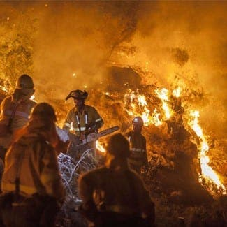Expats evacuated as wildfire threatens town in Andalucia