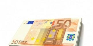 couple hand in bag of euro notes in spain e