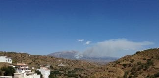 fire in axarquia