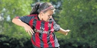 scottish schoolgirl scouted by AC milan spain football