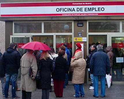 Spain's unemployment rate hits a record high