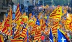 Catalan independence march e