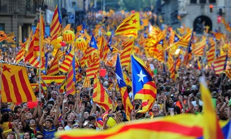 Over a million supporters join independence march in Barcelona