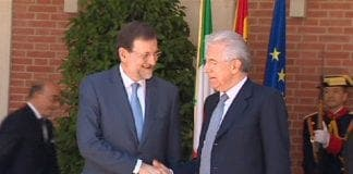 Mariano Rajoy and Mario Monti meet in Rome e