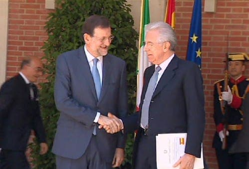 Spanish PM holds talks with Italian counterpart over bailout