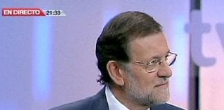 Mariano Rajoy on state TV e