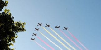 Military flyover to mark Spains national day