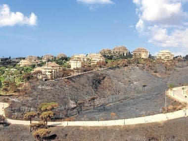 How one home owner saved his house from the Costa del Sol fires