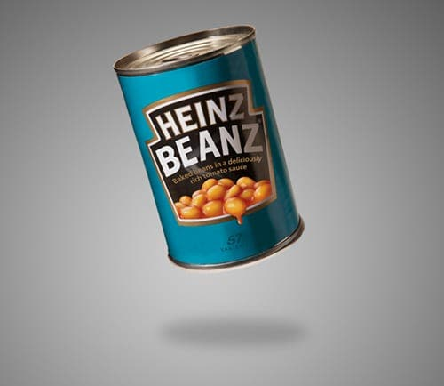 A constant supply of Heinz baked beans