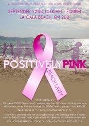 Cancer fundraiser on La Cala beach