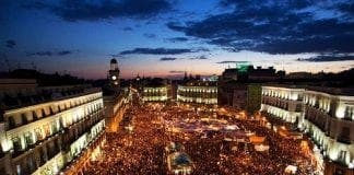 protests in madrid spain against austerity measures