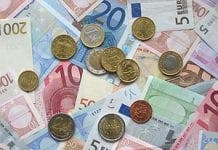 px Euro coins and banknotes