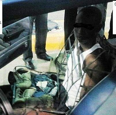 Man tries to enter Spain disguised as car seat