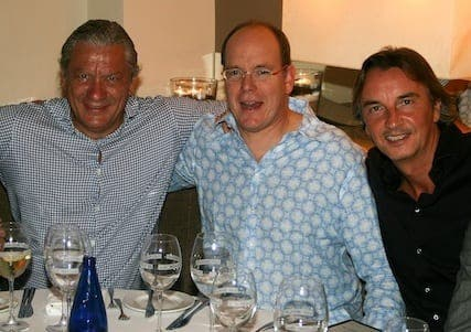 Prince Albert of Monaco dines in Marbella