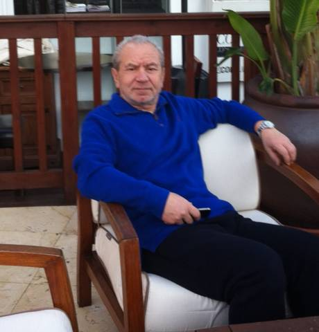 Sir Alan Sugar spotted in Puerto Banus