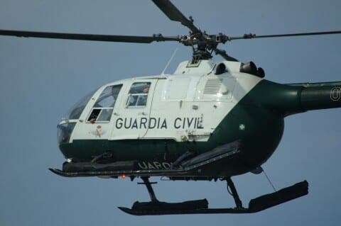 Spaniard faces prison for directing fireworks at police chopper