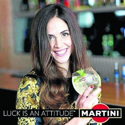 Olympics star named as new face of Martini