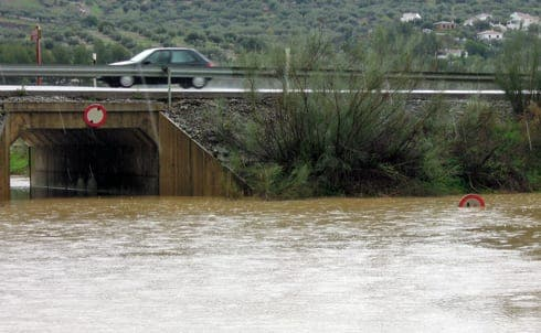 Torrential rains flood Malaga as province remains on orange alert