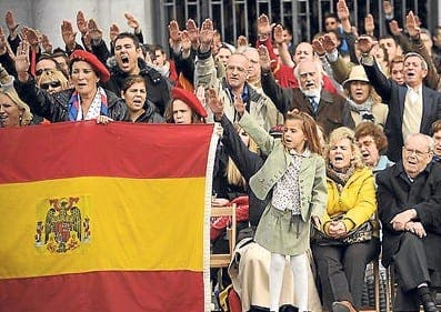 Raising the issue of fascism in Spain