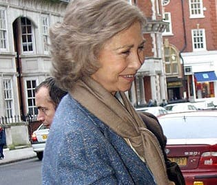 Spain's Queen Sofia visits London