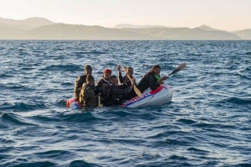 Families squeeze into toy dinghies to come to Europe from Africa