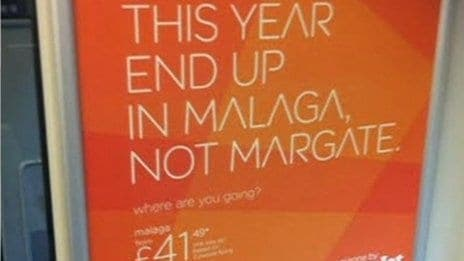 Budget airline slammed for comparing Margate to Malaga