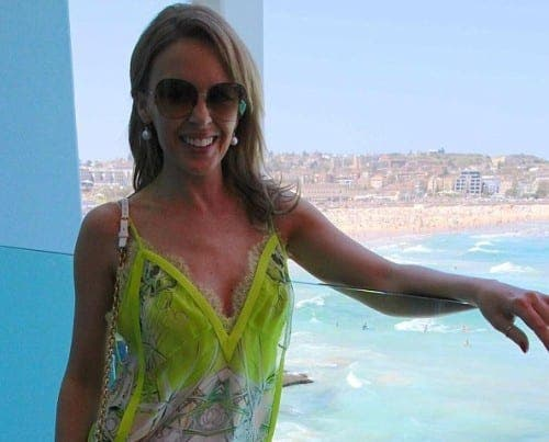 Kylie Minogue spotted at exclusive Spanish spa