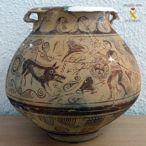 Police arrest man in connection with theft of priceless vase in Spain