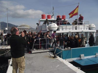 Anti-drilling campaigners set sail off the Costa del Sol