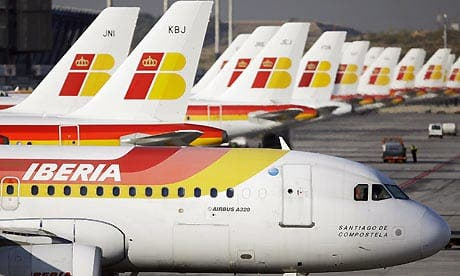 Iberia airline strikes in Spain