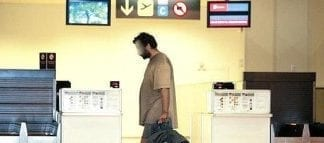 malaga airport homeless man e