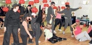 Teachers performing Gangnam Style at the Talent Show e