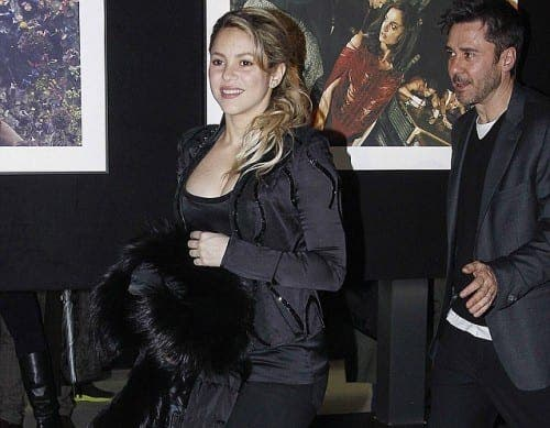 New mum Shakira steps out