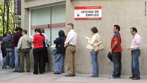 Five million people unemployed in Spain