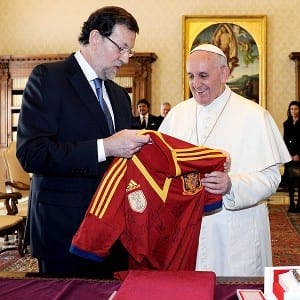 Pope gets shirty
