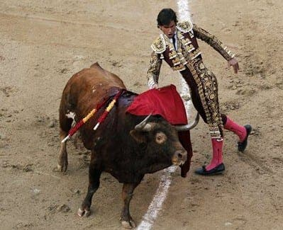 San Sebastian bull fighting e