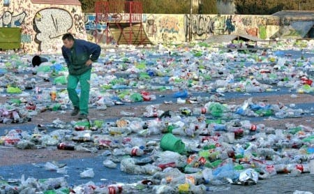 49 tonnes of rubbish left after annual 'botellon'