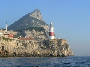 Gibraltar pumps its sewage into the sea at Europa point