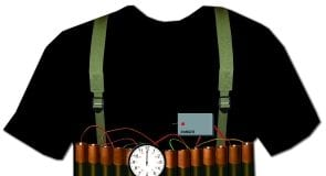 fake bomb vest
