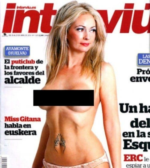 Shamed Spanish councillor goes topless