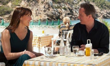 David Cameron relaxes on Ibiza break