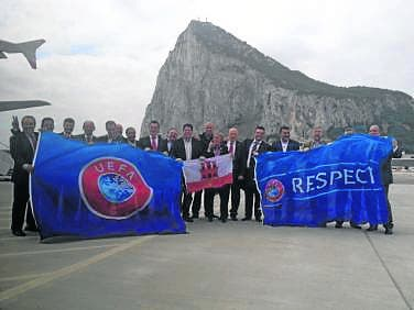 Gibraltar accepted into UEFA