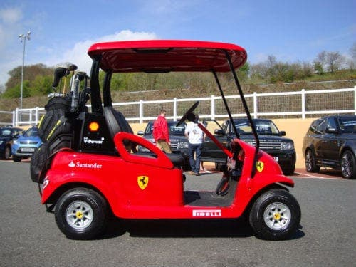 Ferrari fans head to the golf course